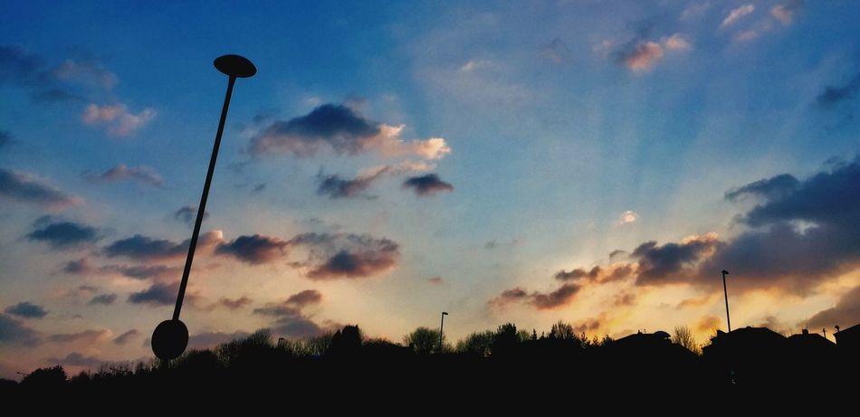 Sky Street Light Sunset Cloud - Sky Nature Outdoors Newport Wales UK