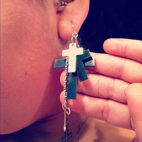 loooooove these earrings :) Newobsession Crosses Tragus Ear love