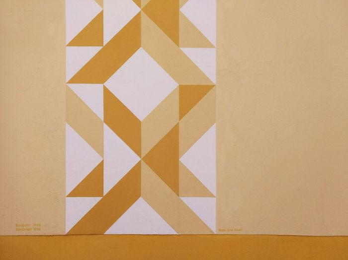 Close-up of yellow pattern