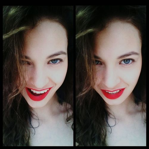 Hello World That's Me Cheese! Beautiful Sunny Day Beauty Model Red Lips Red Lips