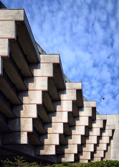 Urban Geometry Architecture Architecture_collection Concrete Brutalism Krakow Cracow Sky And Clouds