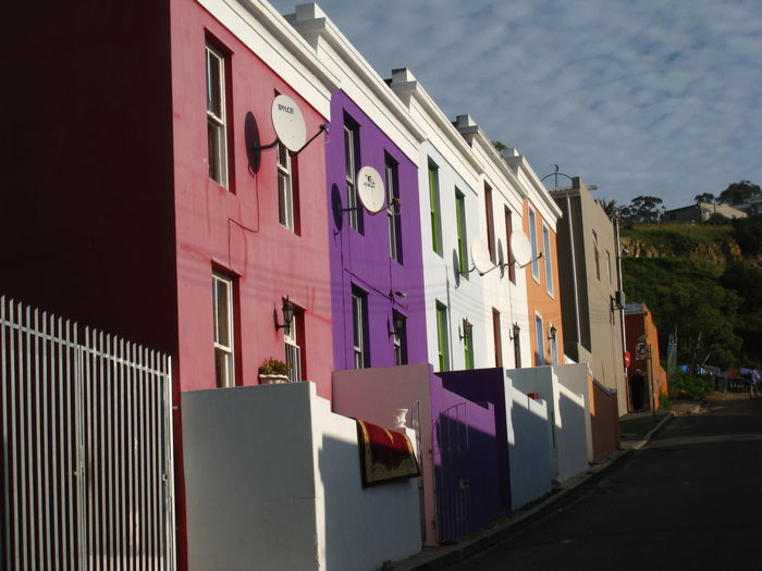 Architecture Bo-kaap Building Exterior Cape Town City Life Colorful Composition Façade Houses In A Row Pastel Pastel Power Pink South Africa Travel Travel Photography