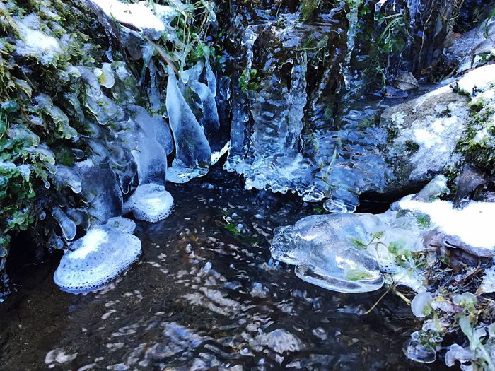 Waterfall De Cascade france Super Besse mountain Ice Waterfalls Winter cold Nature Beauty Nature National Park White Snow Winter season Forest Crystal Rock Water Cold Temperature Outdoors Day Holiday Europe Traveling Visiting Sightseeing Mountain De Cascade Frozen