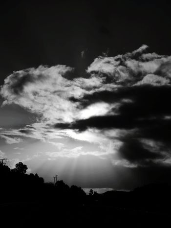 Black And White Friday an interesting cloud formatting with the sun behind it looking ominous. I personally live the sun as a topic 😊 Cloud - Sky Sky Nature Outdoors Storm Cloud Beauty In Nature Tree Scenics No People Clouds Sun Sunset Sunlight Light And Shadow Ominous Ominous Sky Cool