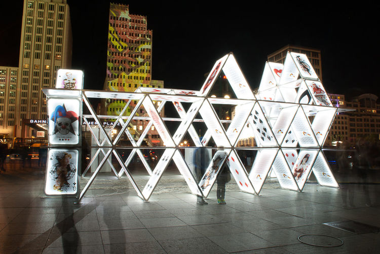 Potsdamer Platz Festival Of Lights 2015 Kartenhaus Cards