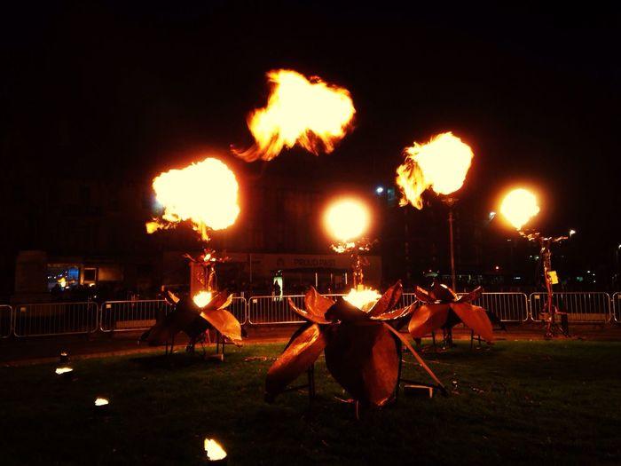 Fire Flame Thrower Metal Sculpture street art