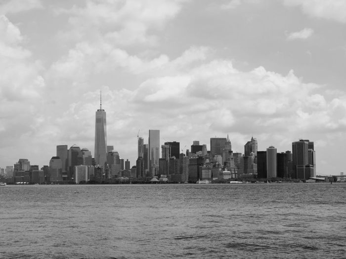 Architecture Black & White Building Exterior City Cityscape New York Skyline  One World Trade Center Skyline Skyscraper