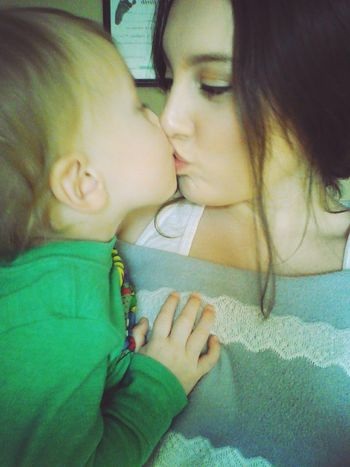 Kisses for momma♡ Love ♥ Family Beauty Mommy And Son
