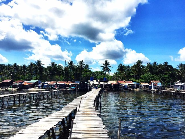 Vietnam Cloud - Sky Water Sky Pier Day Outdoors Jetty Nature Tree Beauty In Nature No People Swimming Pool Sea Nautical Vessel Vietnam Travel Destinations Paradise Phu Quoc