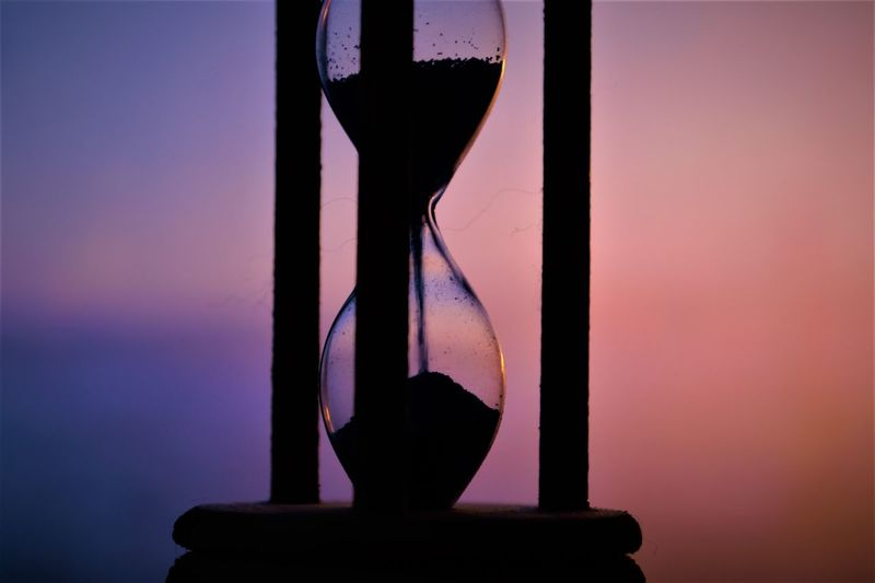 """Time and time again"" Time Horizon Sky Purple Pink Sky Blue And Pink Blue Sky Blue Clear Sky Violet Springtime Beautiful Colorful EyeEm Best Shots Relaxing Time To Reflect Freedom EyeEm Selects Water Silhouette Sun Sunset Evening Idyllic Transparent Purple Window Sill Calm Dramatic Sky Hourglass"