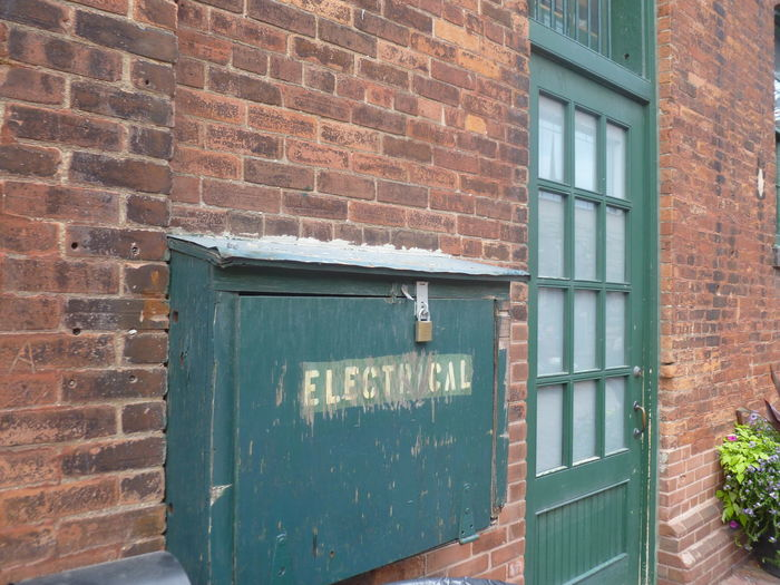 Architecture Brick Wall Built Structure Façade Green Old Times Simple The Distillery District