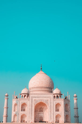 View of taj mahal against blue sky