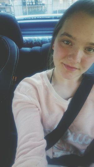 Waiting in the Car for my mom. Shopping That's Me Swedishgirl Girl Smile Sun Spring Noschool