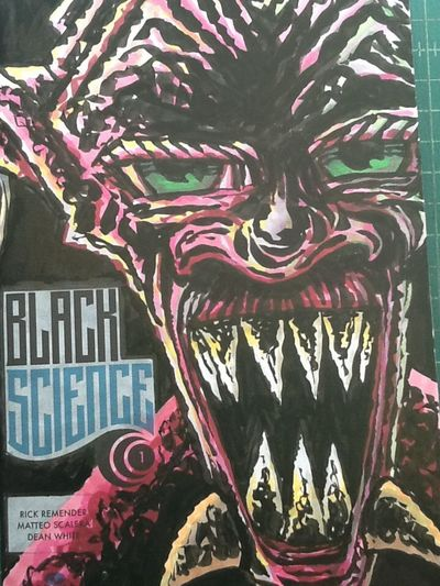 A drew a Black Science sketch cover. Sketch Cover Drawing Comic Book Art