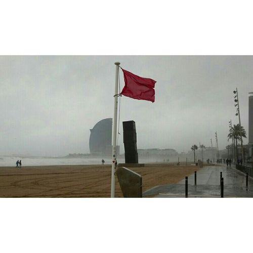 Domingo,bandera roja... Barcelona♡♥♡♥♡ Rain Day Landscape Eyem Best Shots