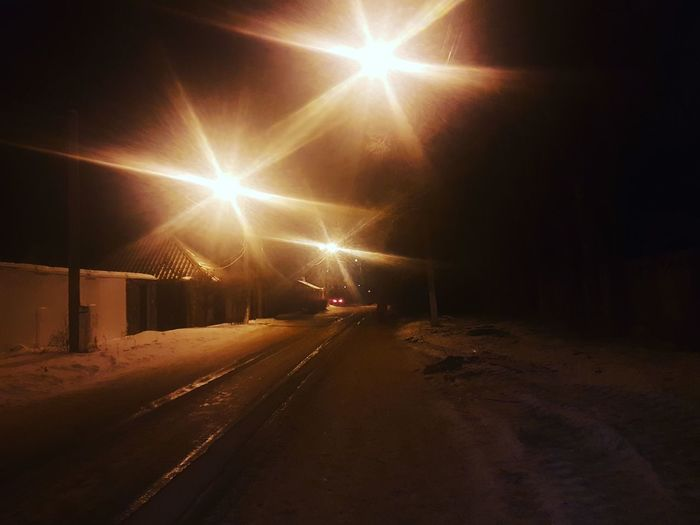 Night Illuminated No People Light Beam Cold Temperature Outdoors