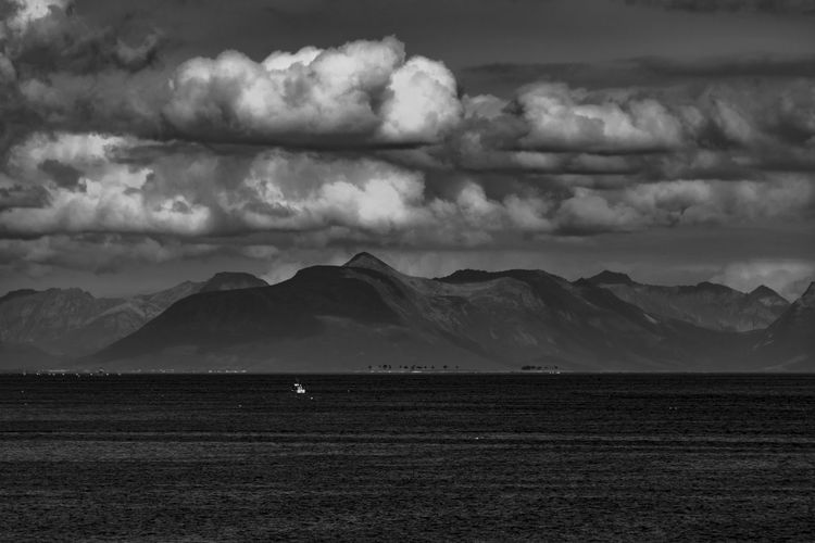monochrome coastline in North Norway Cloud - Sky Scenics - Nature Sky Beauty In Nature Mountain Tranquil Scene Environment Landscape Tranquility Land Nature Non-urban Scene No People Day Mountain Range Animal Themes Overcast Betterlandscapes Monochrome Wanderlust Lofoten Lofoten Islands Norway Arctic Ocean EyeEm Nature Lover The Great Outdoors - 2019 EyeEm Awards
