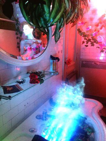 Bath Room Glance Multi Colored Decoration Indoors  Plant Built Structure Reflection Creativity Illuminated Flower Representation Event