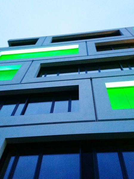 Neon Green Symmetrical Symmetry Showcase April Architecture Building