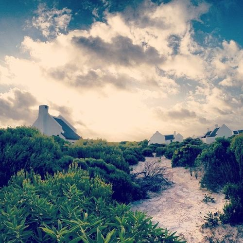 Sunset Fishermensvillage Holiday Wilderness Beach Langezandt Capeofagulhas