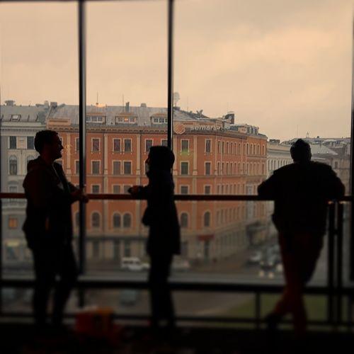 Waiting for cinema 🎥 Riga Cinema Pic People