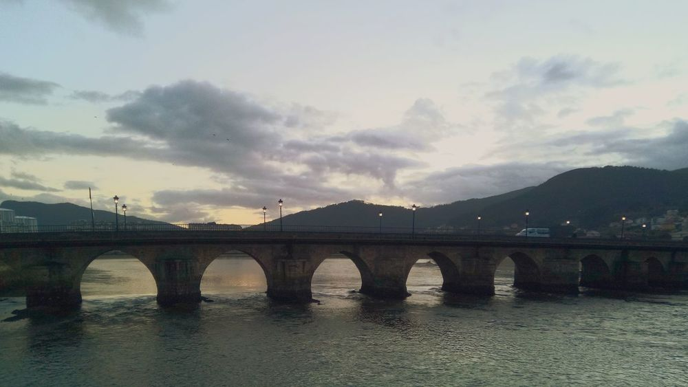 Viveiro. Galicia Galicia, Spain Viveiro Desconecting Tranquility Vegetation Bridge - Man Made Structure Connection Water River Architecture Arch Cloud - Sky Built Structure City Day Mountain Winter Sky No People Nature