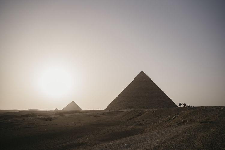 Built structure on a desert