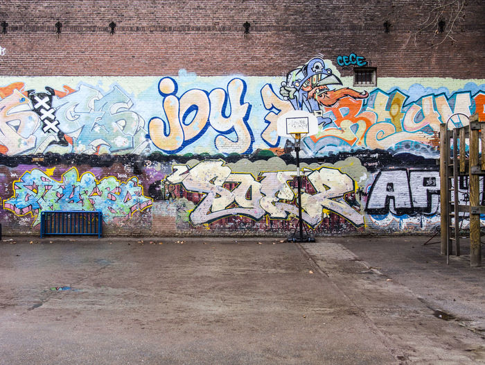 Graffiti Art And Craft Creativity Wall - Building Feature Street Art Multi Colored Architecture Built Structure Wall Text No People Building Exterior Day Communication Western Script City Craft Representation Footpath Outdoors Mural Messy Brick Basketball My Best Photo