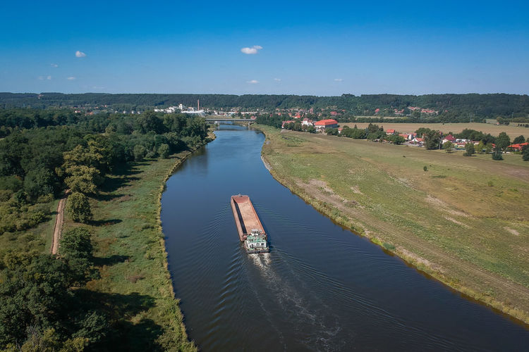 Drone  River View Day Dronephotography High Angle View Landscape Outdoors River Scenics Ship Sky Water