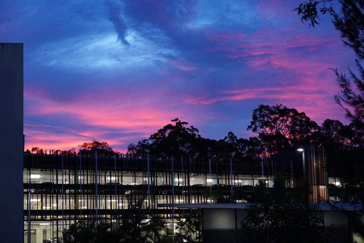 Australian Sunsets Sunset Southport Griffith University Colorful Sky