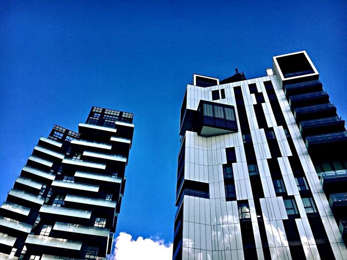 Architecture Building Exterior Built Structure Blue Sky City Glass Fasade Modern Photography Mirano