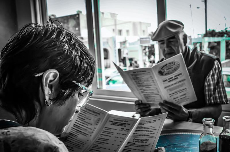 EyeEm Selects Portrait Newspaper Reading Indoors  Lifestyles Adult Leisure Activity Real People Sitting Looking Close-up EyeEmNewHere