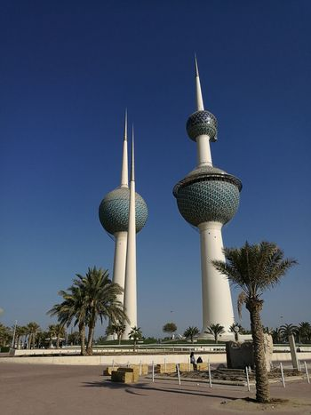 Kuwait Towers Outdoors Travel Destinations Architecture Cultures Landmark Tourism Clear Sky Low Angle View
