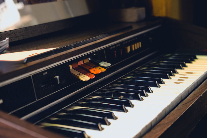 vintage piano Music Old Fashion Style Old Fashioned Vintage Style Arts Culture And Entertainment Close-up Day Indoors  Keyboard Music Musical Instrument Musician No People Piano Piano Key Technology Vintage Vintage Piano