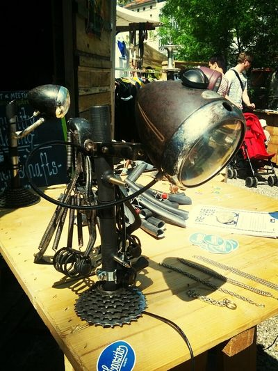 Steampunk variations II: bicycle lamp by larsitos.de