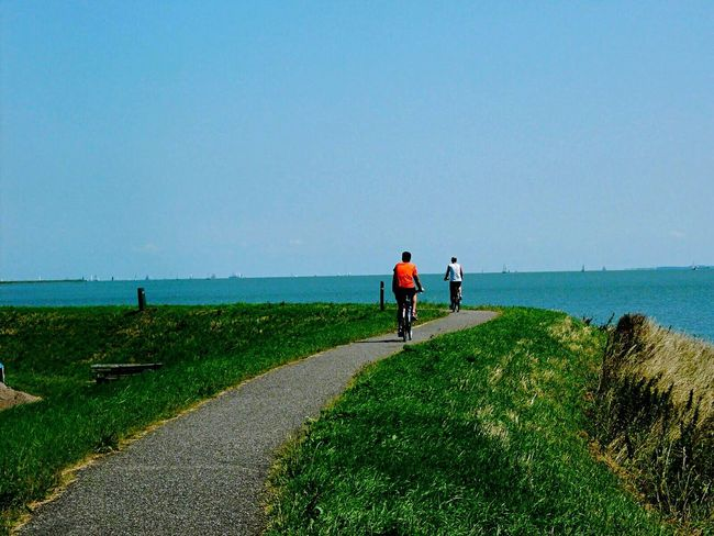 Enjoying Nature Celebrate Your Ride Biking Sports Photography Nature On Your Doorstep Dike Sea View Water_collection The Netherlands Showcase March CyclingUnites