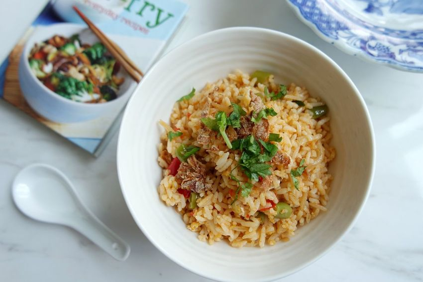 Food And Drink Ready-to-eat Food Indoors  Freshness Serving Size Table High Angle View Healthy Eating No People Plate Bowl Close-up Fried Rice Day