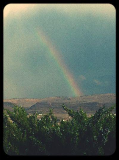 Rainbow After The Rain Sky Taking Photos