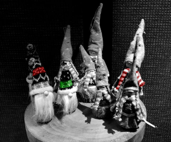 Black & White Chistmas EyeMeNewHere Blackandwhite Christmas Decoration Gnomes No People Window EyeEmNewHere
