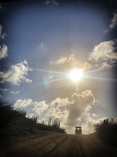 UTV Excursion with Carnival Sunshine Cruise in Aruba 2018 Adventures Adventure Riding Excurion In Aruba UTV Excursion Excursion Sky Sun Lens Flare Sunlight Sunbeam Cloud - Sky No People Outdoors Silhouette Scenics Day Beauty In Nature Nature Tranquility Tree Architecture
