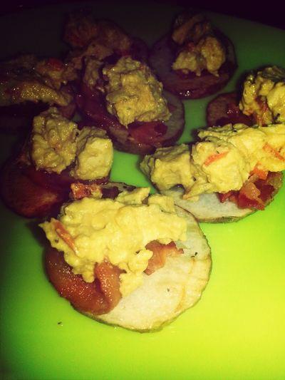 Friedpotato Bakedbacon Chickenbreast Mustardranchsauce#FOODPORN#CATYN'S RECIPE