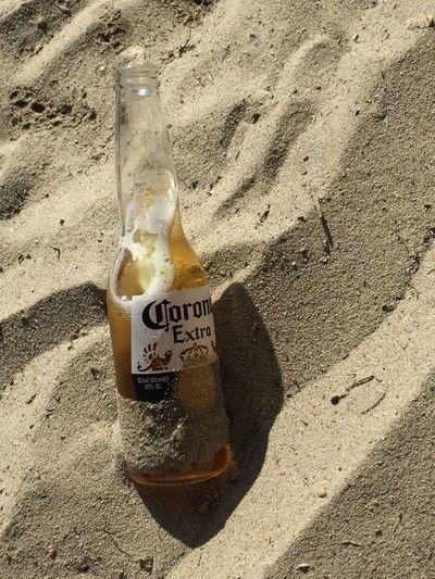 Beach Sand Bottle Sunlight