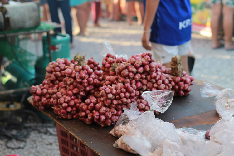 Shallot  for sale at market stall