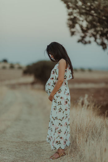 Alentejo,Portugal Woman Alentejo Clear Sky Day Field Focus On Foreground Full Length Landscape Nature One Person Outdoors People Pregnancy Pregnant Pregnant Belly  Pregnant Phtography Real People Sky Standing Young Adult Be. Ready. Visual Creativity