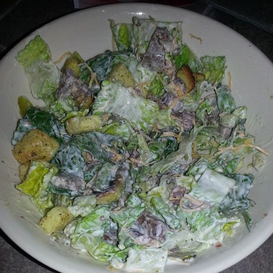 Steak salad! Yummy Romainelettuce Grilledsteak