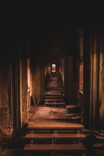 Angkor Wat Temple corridor Cambodia Travel Travel Photography Day Doorway Indoors  No People Temple
