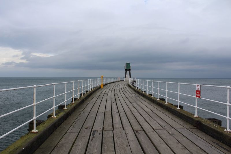 Sea Railing Sky Horizon Over Water Cloud - Sky Water Beauty In Nature Nature Pier Scenics Outdoors The Way Forward Beach Tranquility Day No People Miles Away