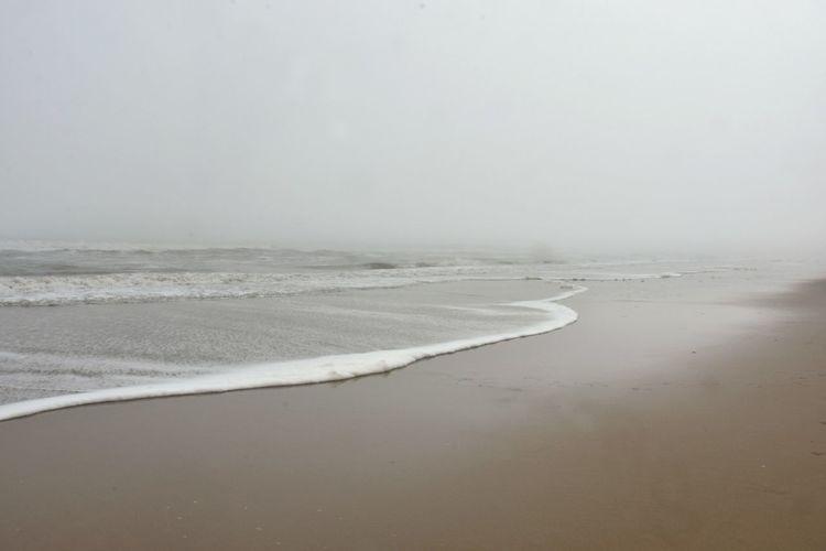 Water Fog Beach Sea Tranquility Tranquil Scene No People Winter Foggy Morning Foggy Beach Seafoam Type Space Virginia Beach