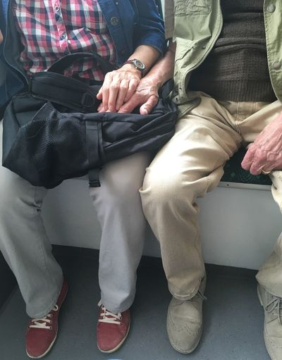 This older couple sat opposite me in the tram. love doesen't know an age. Eye For Photography EyeEm Gallery EyeEmBestPics EyeEm Selects EyeEmNewHere EyeEm Best Shots Eye4photography  Sensual_photo Sensual 💕 Warmhearted Married Marry Age Peace Love Senior Older Couple Couple Adult Women Togetherness Real People People Lifestyles Human Hand Hand Positive Emotion Adventures In The City Visual Creativity This Is My Skin
