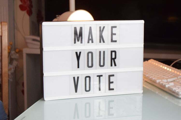 Close-up Communication Day Indoors  Magazine Make Your Vote Message Board No People Text Trend